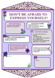 English Worksheets: express yourself