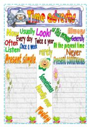 English Worksheet: Adverbs of time