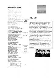 English Worksheet: Whatever oasis