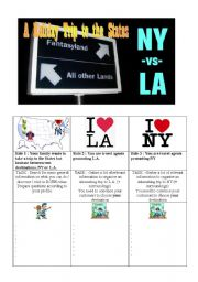 English Worksheet: New York vs. Los Angeles