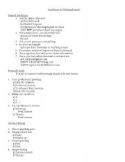 English Worksheets: E-mailing Guidelines
