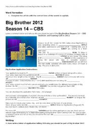 Big Brother Audition and Casting Call