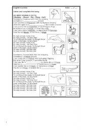 English Worksheets: SO MANY ANIMALS