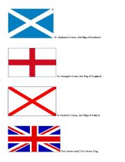 English Worksheet: The making of the Union Jack