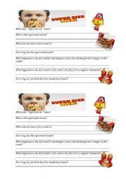 Worksheet Supersize Me Worksheet Answers english teaching worksheets supersize me me