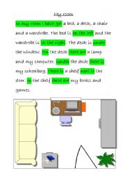 English Worksheets: My room