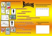 English Worksheets: notices