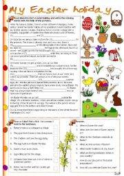 English Worksheets: My Easter holiday