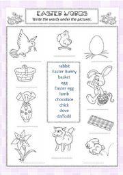 English Worksheet: Easter symbols