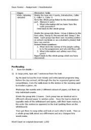 English Worksheet: CELTA Assignment Language Skills Task - resubmission