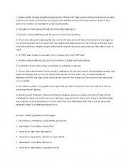 English Worksheets: Rhetorical Strategies exercises with key