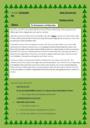 English Worksheet: The Environment and Citizenship
