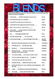 English Worksheets: BLENDS