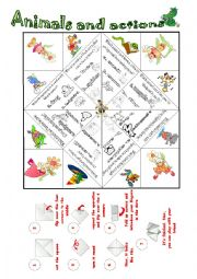 English Worksheet: Animals and sports catcher with riddles