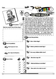 English Worksheet: RC Series Famous People Edition_23 Victor Hugo (Fully Editable)