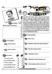 English Worksheet: RC Series Famous People Edition_22 Nikola Tesla (Fully Editable)