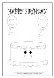 english worksheets birthday cake. Black Bedroom Furniture Sets. Home Design Ideas