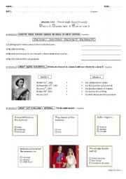 English Worksheet: The british Royal Family : final test