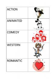 English Worksheets: Movie genres matching exercise