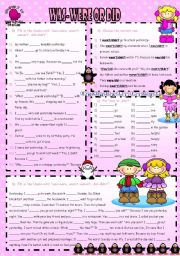 English Worksheet: WAS-WERE OR DID