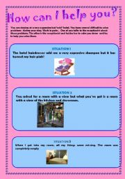 Situations: How can I help you? - ESL worksheet by april