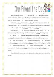 English Worksheets: Our Friend the Dog