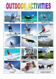 English Worksheet: Outdoor Activities 2