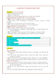 English Worksheets: IELTS ACADEMIC SPEAKING PRACTICE_2012