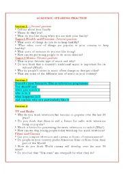English Worksheet: IELTS ACADEMIC SPEAKING PRACTICE_2012