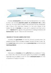 English Worksheet: Unemployment