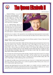 Queen Elizabeth II worksheet