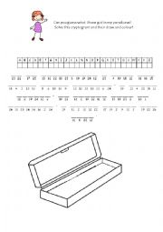 English Worksheet: Fun Cryptogram!