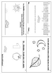 English Worksheet: the very hungry caterpillar minibook part 1  (1/2)