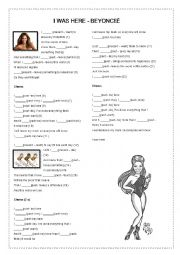 English Worksheet: I was here by Beyonce