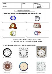 what´s the time? test part 1