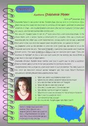 English Worksheet: Stephenie Meyer