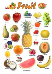 English Worksheet: FRUIT 1/3