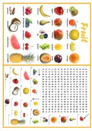 English Worksheet: FRUIT 2/3