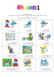 English Worksheets: wh - words exercises part 1