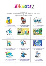 English Worksheets: wh- words exercise part 2