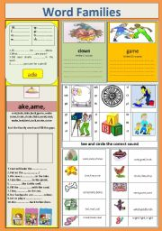 English Worksheets: Phonetics : Word family & blends