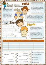 English Worksheet: Meet them... Reading/comprehension
