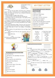 English Worksheet: My First Letter