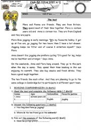 English Worksheet: end of term 2  8th form