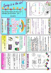 English Worksheet: My spring minibook