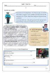 English Worksheets: EFL Adults Test