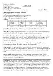 English Worksheet: ESL Baseball Game