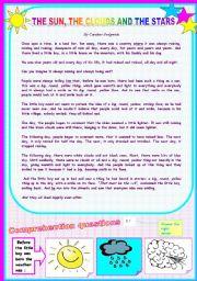 English Worksheet: a short story