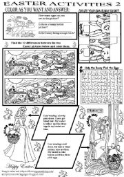 English Worksheets: EASTER ACTIVITIES 2