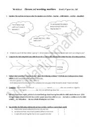 English Worksheets: Working mothers